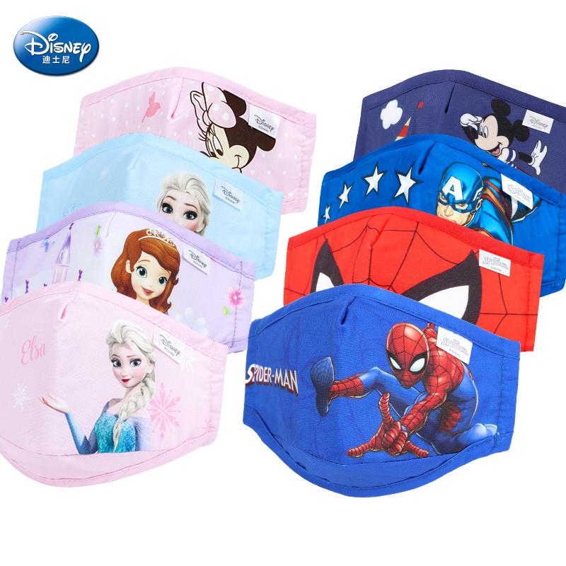 迪士尼儿童的卡通透气冬天口罩布