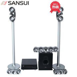 1600D6家庭影院DVD5.1音响套装 USB播放收音 Sansui DTS解码 山水MC