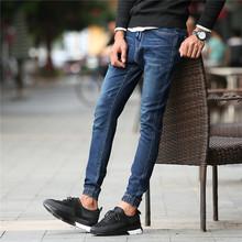 春季弹力修身男士牛仔裤男直筒男裤休闲长裤小脚潮男装 962P45