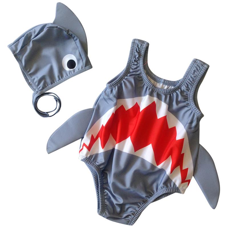 儿童泳衣宝宝连体男女童鲨鱼可爱泳装中小童婴幼儿ins游泳衣套装券后39.80元