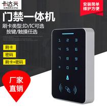 指纹门禁系统套装一体机控制器刷卡密码玻璃门电磁力锁X6中控智慧