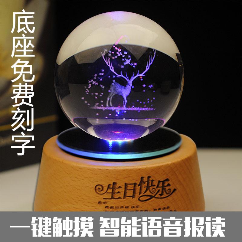 newmbox四叶草水晶球木质音乐盒满256.00元可用128元优惠券