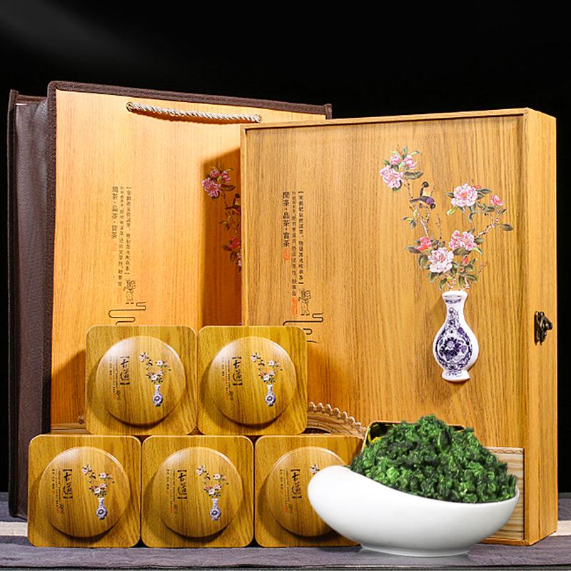 栢篁/新茶安溪浓香型铁观音兰花香茶叶实木礼盒装秋茶500g