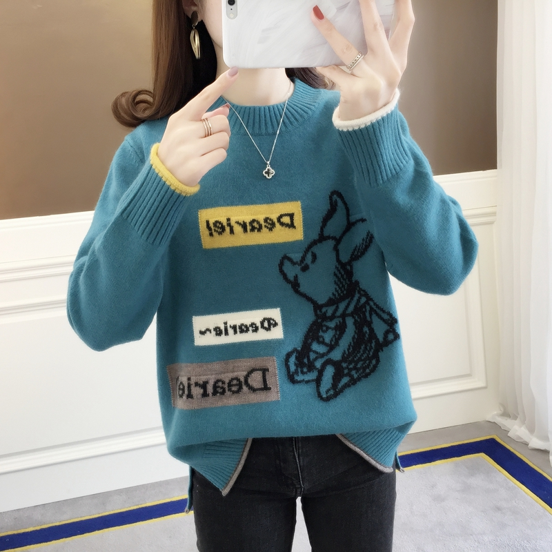 5043 [area p 16 right] - real shot - letter square color matching half high collar sleeve 55