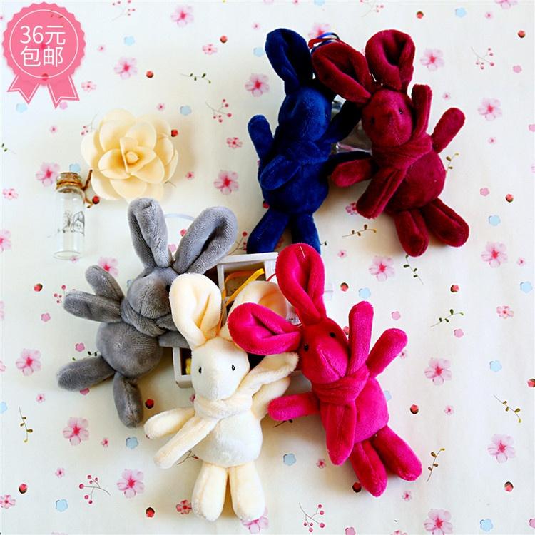 韩国绒许愿兔子系列布艺公仔挂件花束永生花盒装饰少女心安抚玩偶