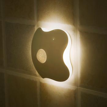 日本自动感应小夜灯家用过道夜间宿舍卧室楼道人体智能led感应灯