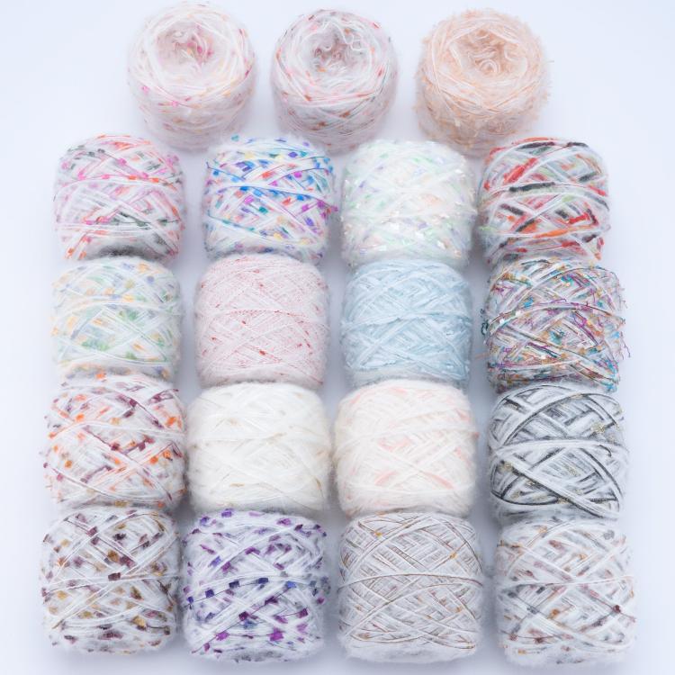 Hand woven stick needle wool imported wool scarf yarn Mahai wool special color yarn bag yarn DIY wool
