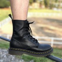 dr1460八孔马丁靴软皮2020年新款秋冬加绒圆头系带平底靴子女短靴