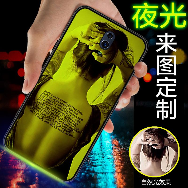 opporeno2手机壳定制Reno 10倍聚焦版夜光玻璃reno z来图订做212-10新券