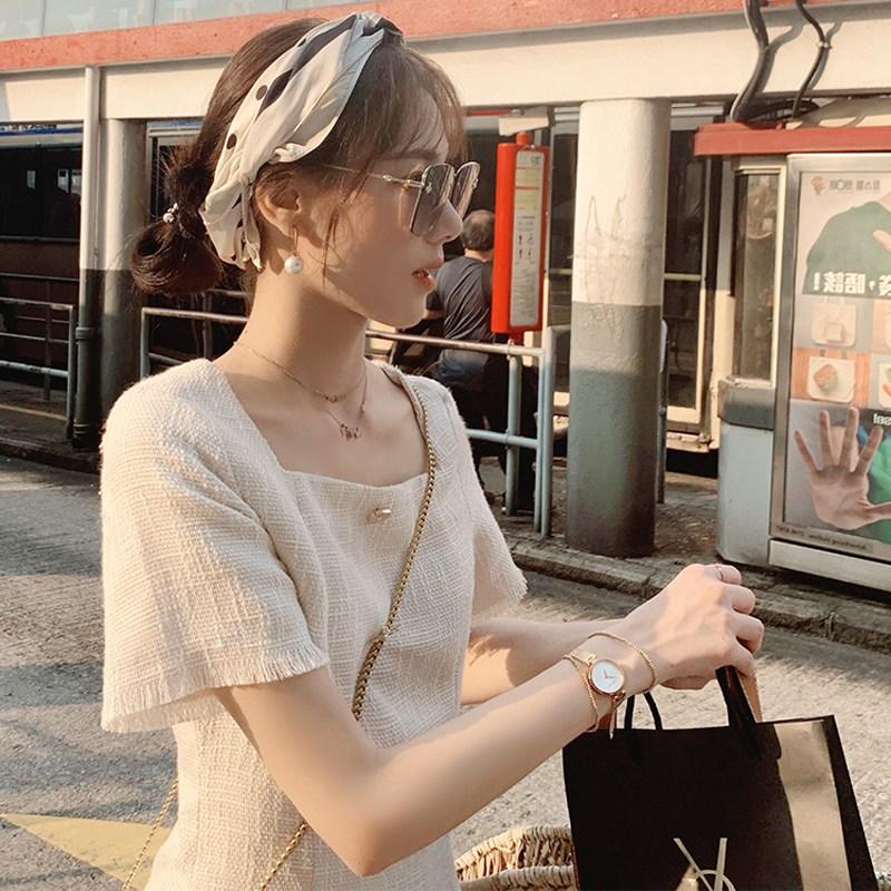 (用1元券)2019新款夏收腰显瘦气质轻熟连衣裙