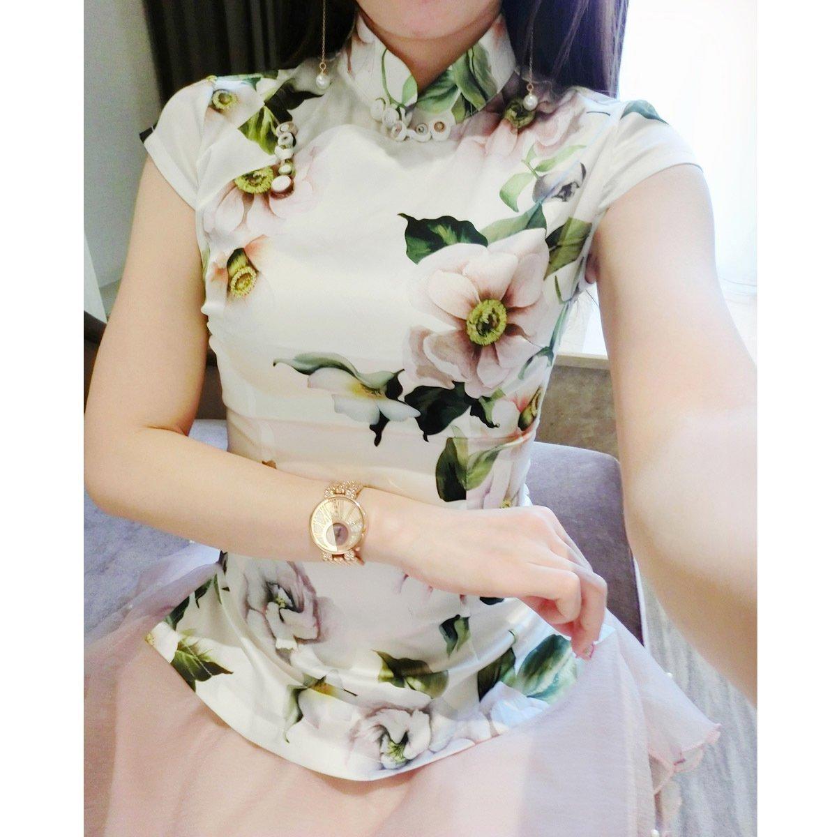 忆今生 女式唐装改良新款 旗袍上衣短袖 茶艺师服装女 夏中国风