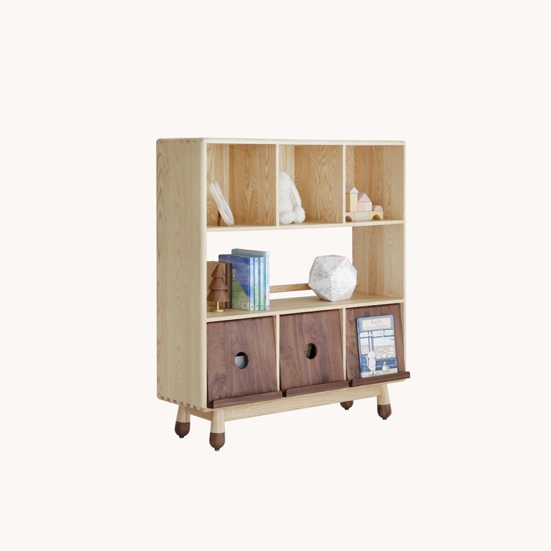 上形 方糖柜 全实木儿童置物架杂物架书架收纳架书柜多用柜 家具