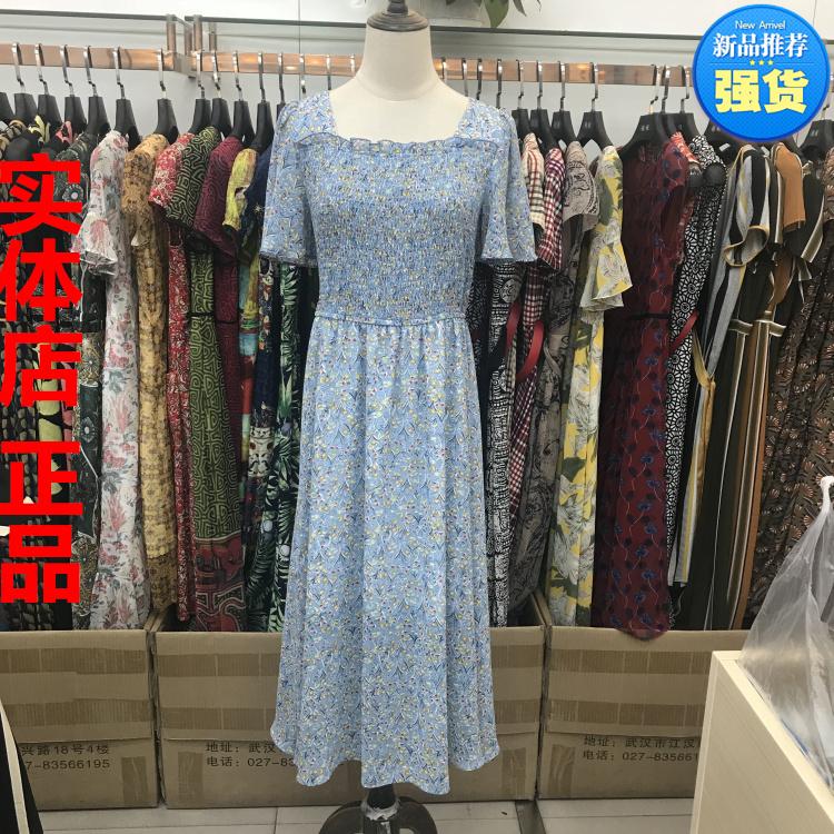 珂曼莎KM-A83133 女装正品 2018夏季新款韩版时尚修身连衣裙 包邮