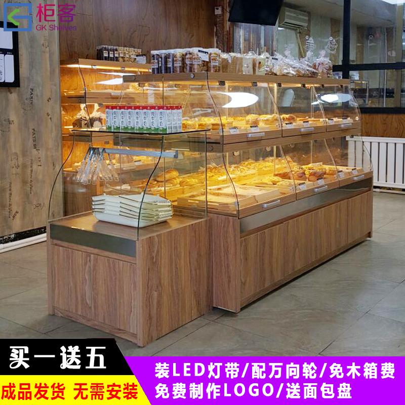 Хлеб кабинет шоу кабинет S дуга стекло торт счетчик ящик в остров кабинет хлеб шоу fcl полка