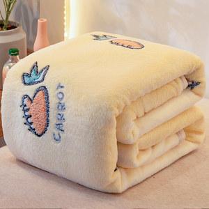 珊瑚绒毯子铺床加厚保暖宿舍床单