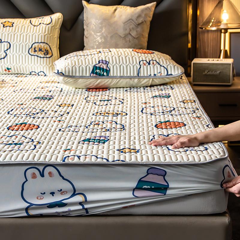 乳胶冰丝床笠单件凉席床罩席梦思床垫保护套全包床单防尘套罩夏季