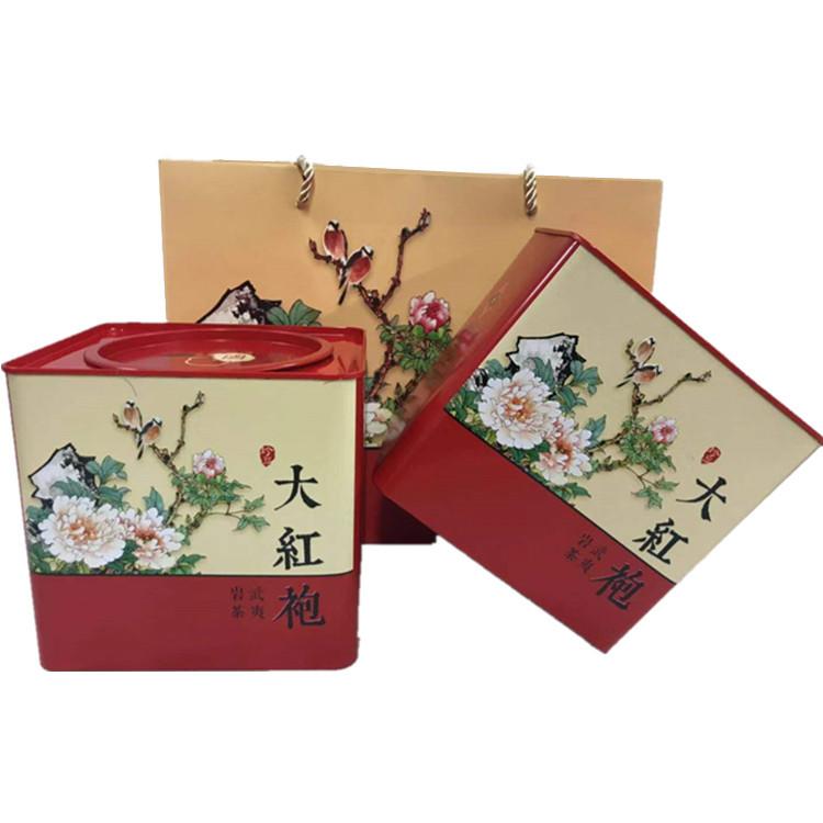 武夷山新春茶叶礼盒装武夷岩茶浓香型乌龙茶500g岩茶大红袍
