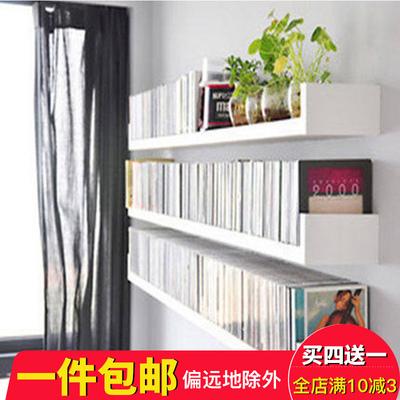 免打孔U型书架墙上置物架壁挂隔板客厅墙壁卧室电视墙墙面装饰架