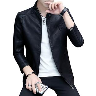 富貴鳥男士皮衣2020春秋新款帥氣派克機車皮夾克男潮流韓版外套