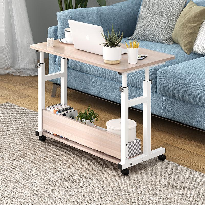 简易出租房置物学习桌移动小饭桌小户型家用宿舍写字桌折叠懒人桌