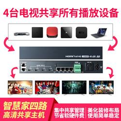智能家居智慧家HDMI404影音共享器交换机高清机顶盒电视共享观看