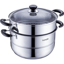 Supol Steam Cooker Household Small 304 Stainless Steel 2 Two Double Layer Three Layer Steaming Soup Multi-purpose Electromagnetic Gas Cooker