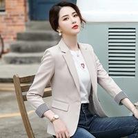 韩版小西装女2020春秋新款短款修身外套时尚显瘦九分袖洋气休闲装