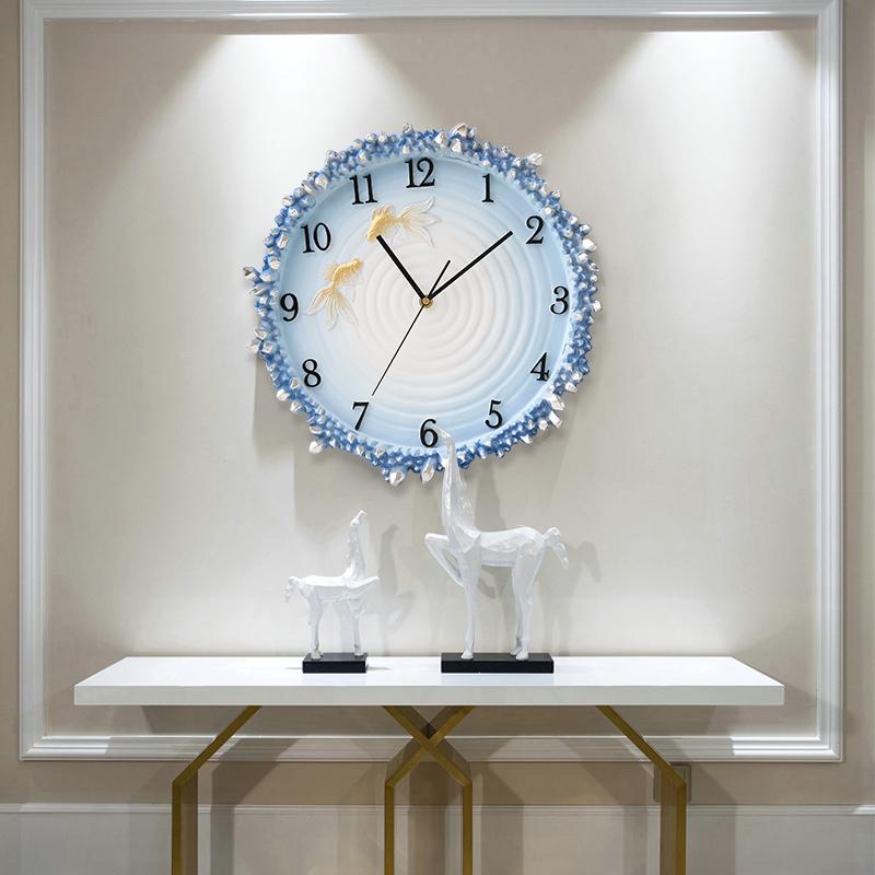创意挂钟客厅实用3D浮雕钟表简约现代家庭静音卧室石英钟时钟挂表