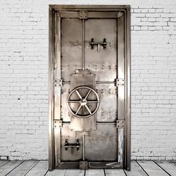 复古工业风金库大门装饰品酒吧餐厅密室逃脱门创意个性金属铁艺门