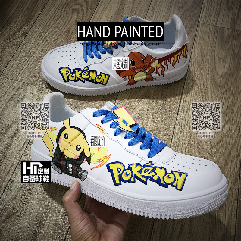Hand painted shoes private DIY personalized graffiti custom shoes design picachu mens and womens fashion