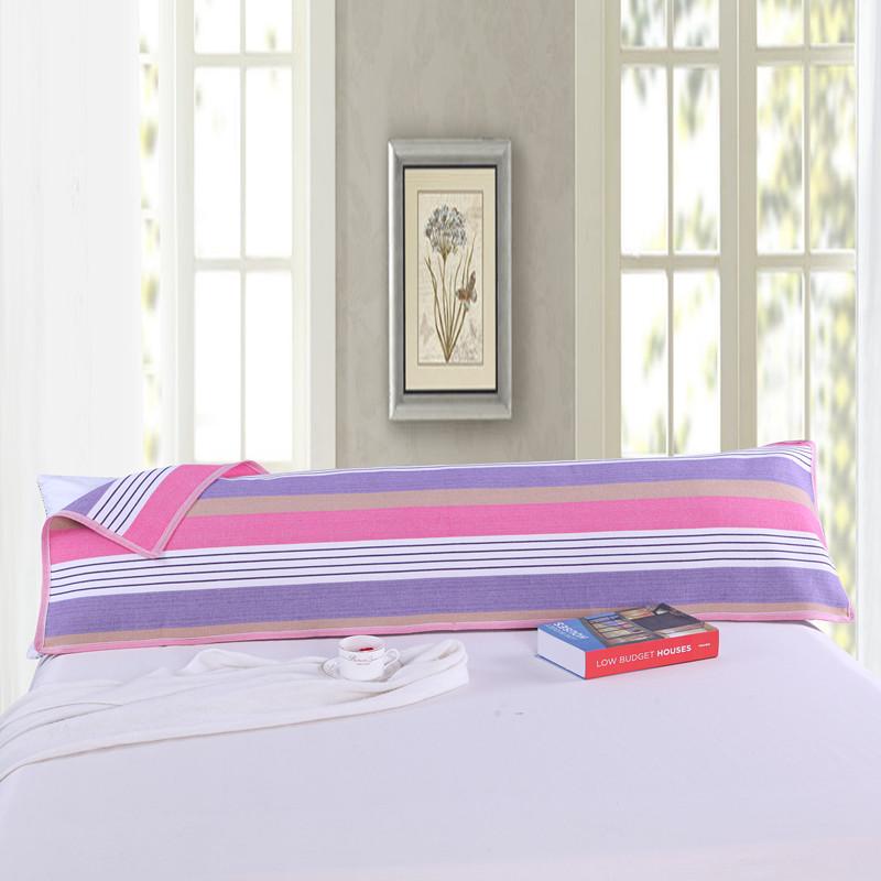 枕头巾长款双人加密加厚双人老粗布枕巾1.2米1.5米1.8米包邮