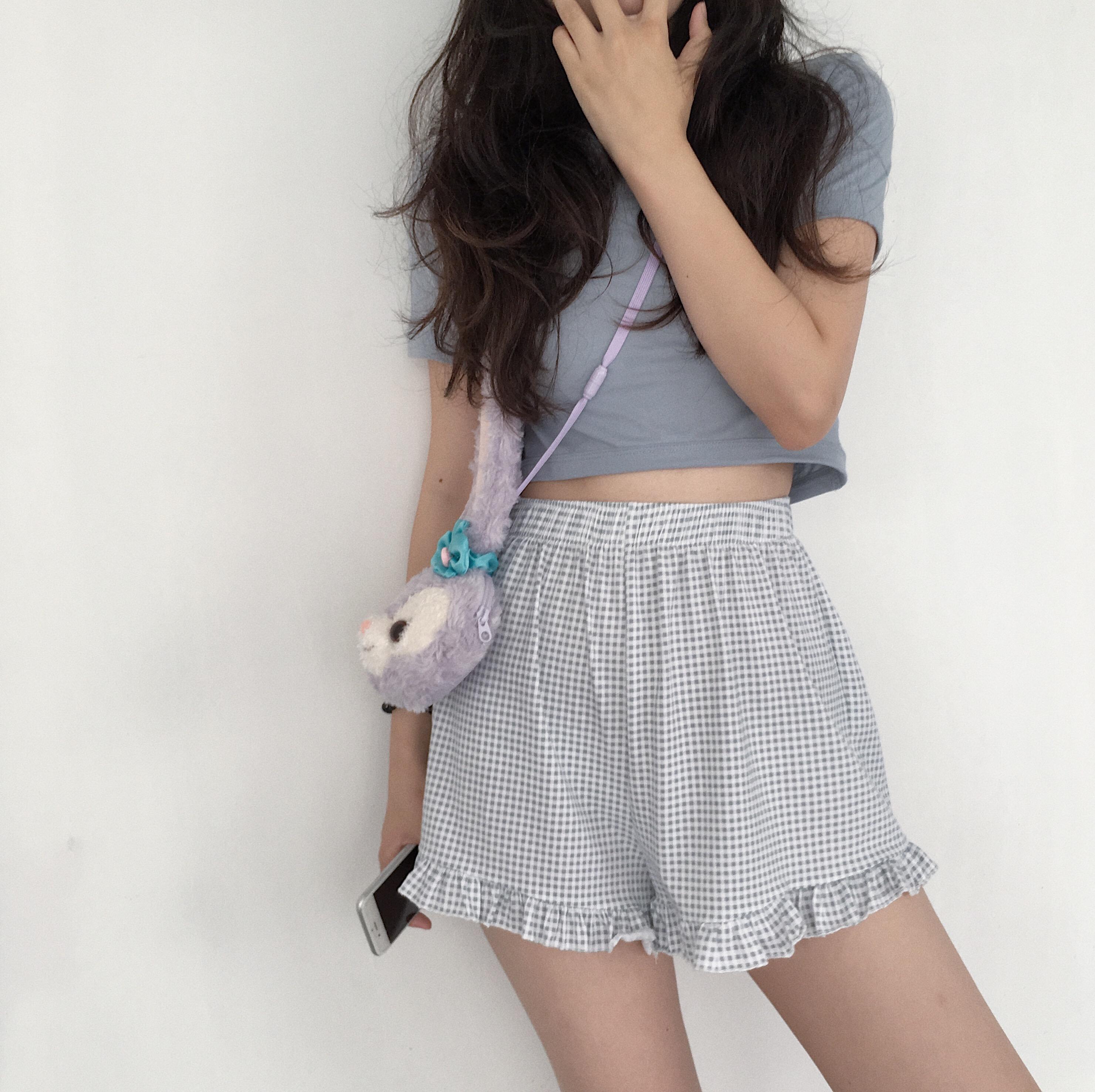 ZNG SHOP女�b2018新款 很推�]的�色敲好看的短T恤女 �缮�入