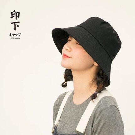 日本uv網紅女夏遮陽帽韓版男漁夫帽