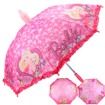 Barbie child umbrella girl automatic umbrella Princess little girl kindergarten pupils rain gear baby parasol