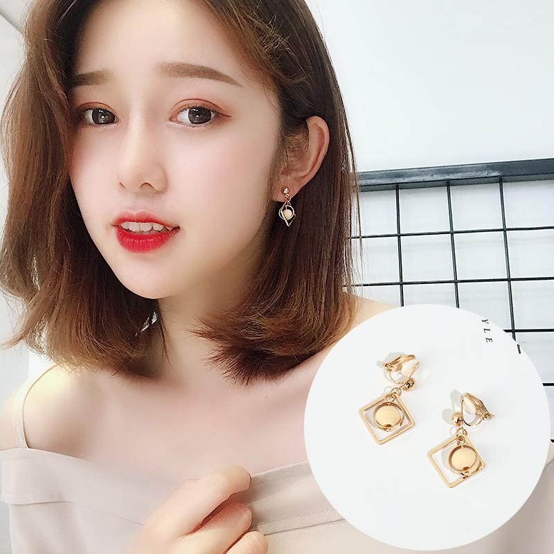 Ear clip without hole false without hole earring earring earring earring earring student earbolt 2019 new temperament female