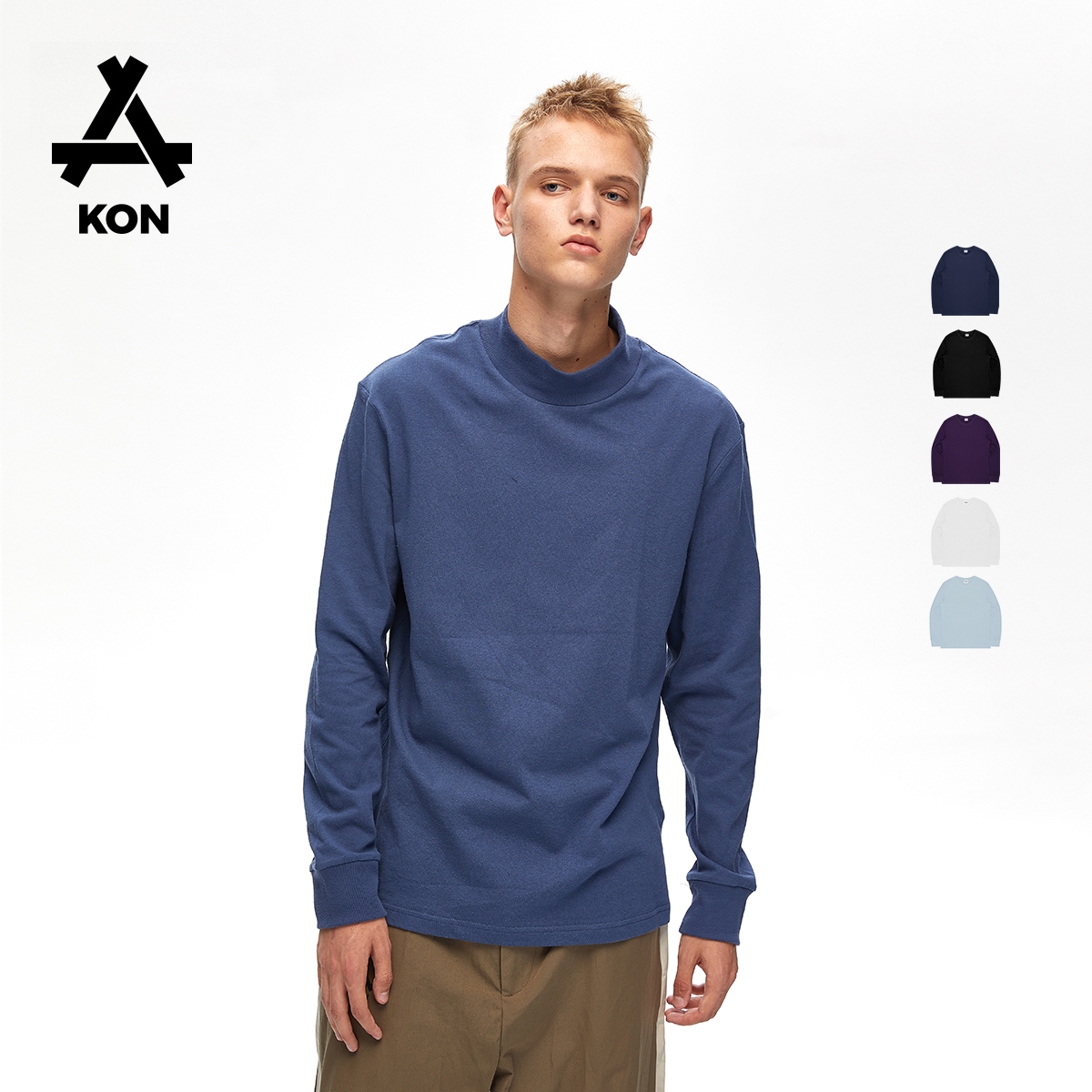 kon-prime多色纯棉长袖t恤打底衫热销90件限时2件3折