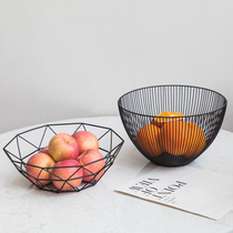 Nordic simple geometric iron fruit basket living room coffee table Fruit Plate Desktop Creative storage basket Fruit Basket