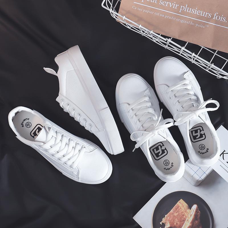 基�A小白鞋女春季2018新款百搭�n版平底板鞋夏季休�e女鞋�W生白鞋