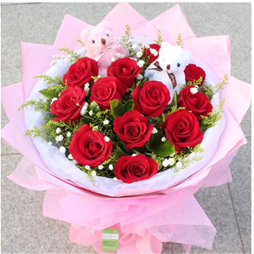 11 flowers and 19 red roses sent to the same city flower shop in Chanhe District, Luoyang City, Henan Province