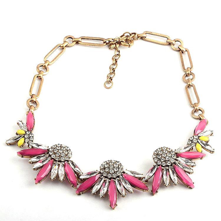 欧美饰品个性时尚水晶宝石短款项链配饰首饰
