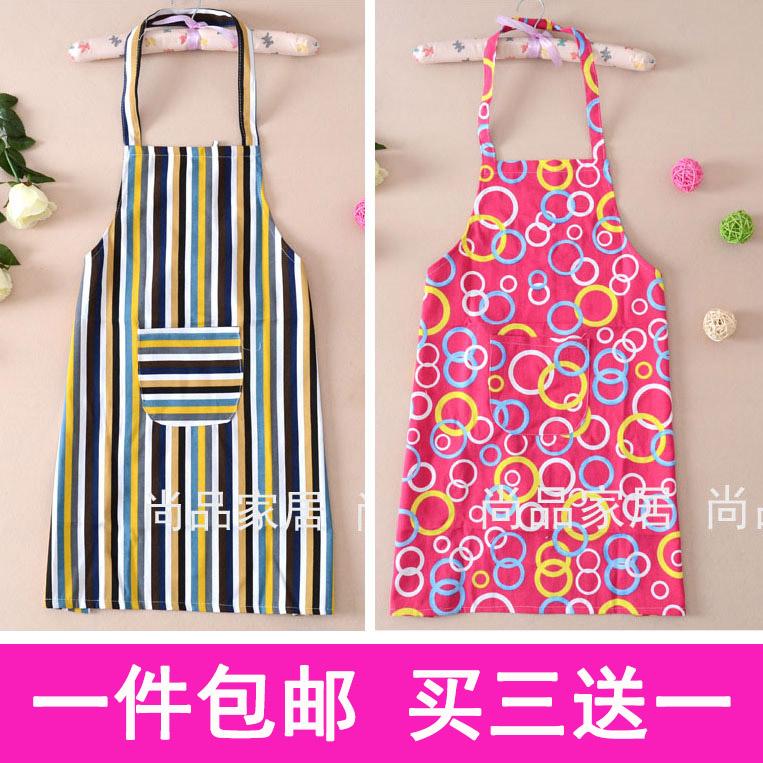 Parcel post cute cartoon canvas apron cloth strip fashion Kitchen Apron mens and womens work clothes home apron