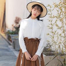 【7557#不低于69】蝴蝶结袖子的衬衫女 2019秋季现货
