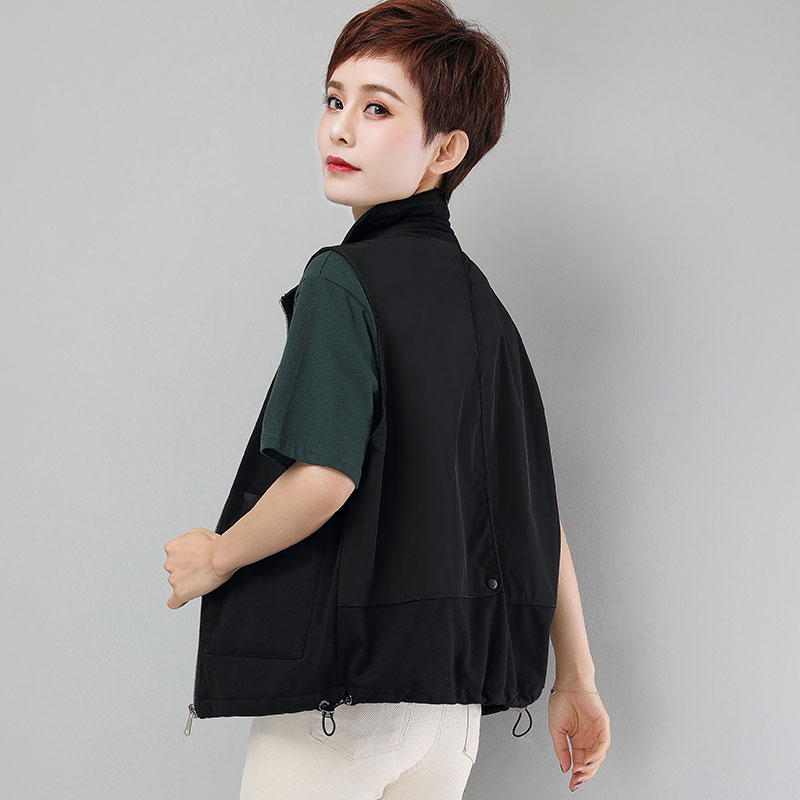Women's all-around jacket in tooling and waistcoat in spring and autumn 2020 new Korean version loose waistcoat with thin waistcoat