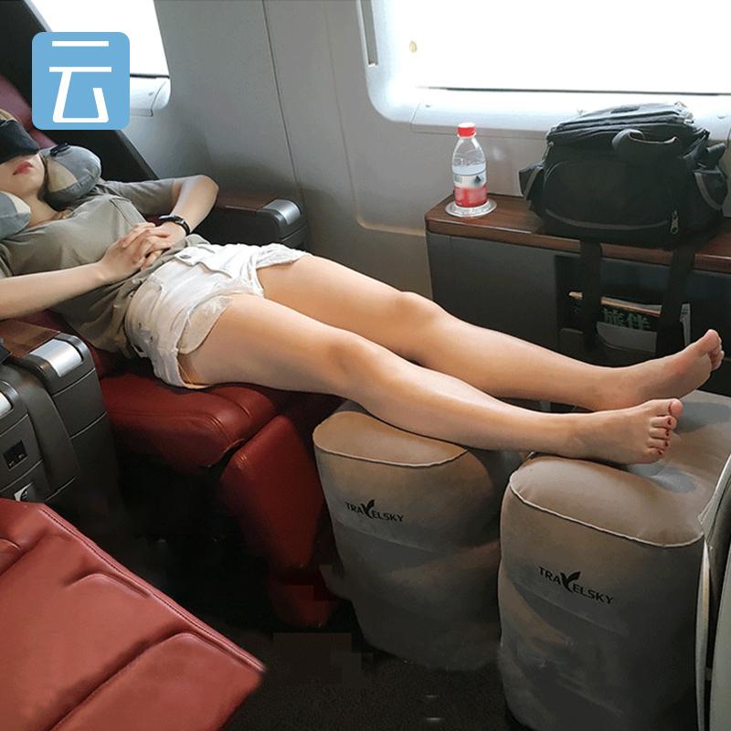 充气飞机脚垫脚踏出国旅行 神器垫腿火车睡觉 护颈枕汽车足踏