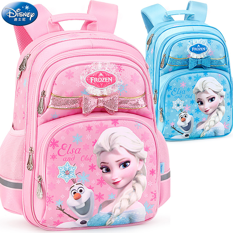 迪士尼小学生书包女童1-3-4三四年级冰雪奇缘女孩儿童减负双肩包6