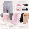 Children tights plus thick velvet autumn and winter white girl dance socks bottoming large children warm pants baby