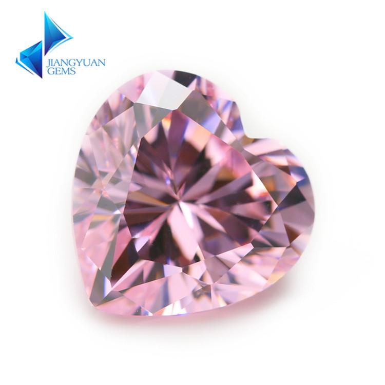 3x3~12x12mm 心形裸石粉色美甲DIY配件梧州人造宝石 5A高级锆石