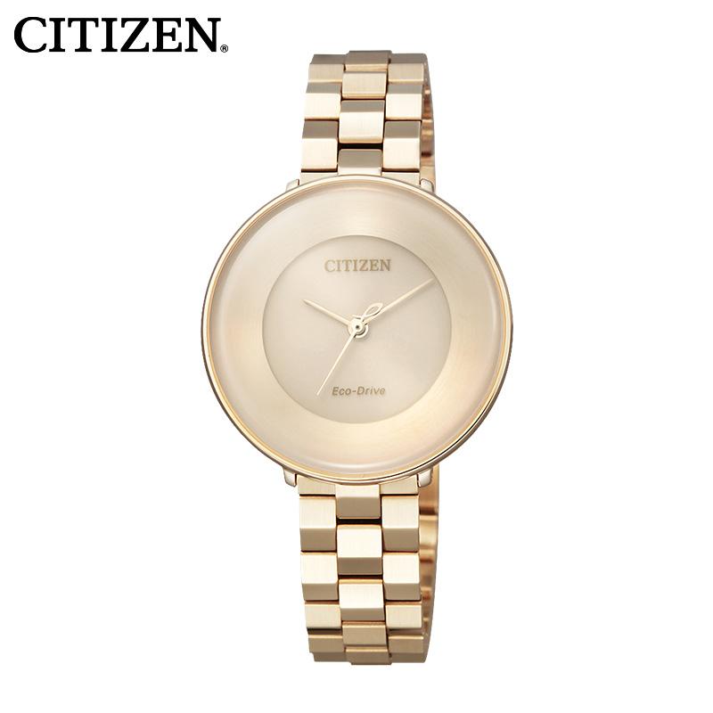 Западный железо город CITIZEN туманный месяц нержавеющей стали обшивки розового золота оттенок шаг может женская форма EM0603-89X