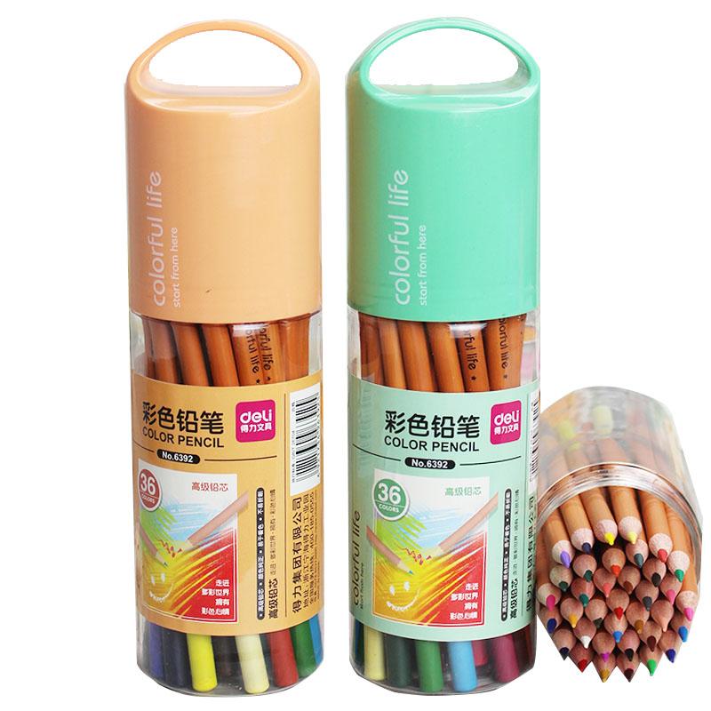 得力18 24 36色秘密繪圖塗鴉花園填色筆彩鉛彩畫筆塗色筆彩色鉛筆