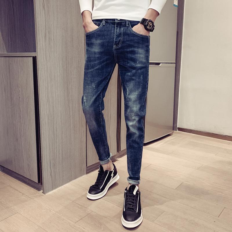 2020春季新款韩版修身弹力小脚牛仔裤男 N5070 P55